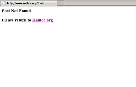 Our error 404