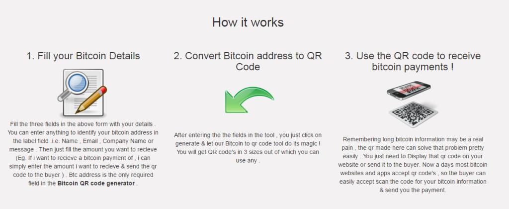Generating bitcoin qr code